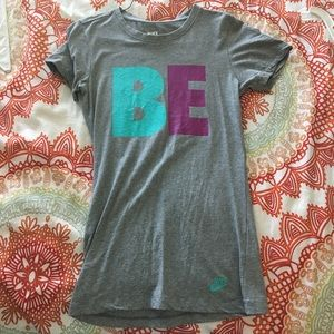 """Nike dri-fit """"BE TRUE"""" work out shirt. - Size XS"""